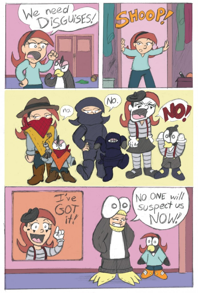 We need DISGUISES! Is a good comic title.