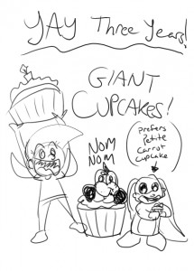 Fizzlebit 3 Years = Cupcakes!