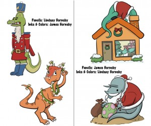 This year's Dino/Christmas lineup and credits....
