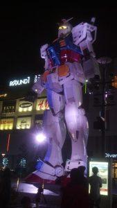 """Oh, hi. I'm a Gundam. Just chillin'."""