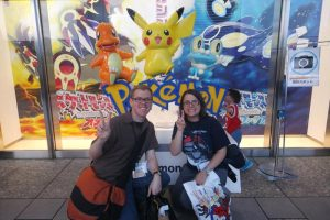 A random Small Child wandered into our photo, but that's okay because he likes Pokemon too.