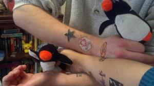 Sweet Temporary Tattoos of Penguin Winning Power