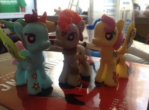 I slowly built up a pony model army over the first week of being home-bound and leg-hobbled.