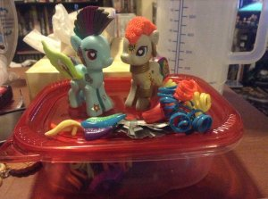 Building ponies with wacky hair helps to forget the terrible, terrible sound of a leg breaking.