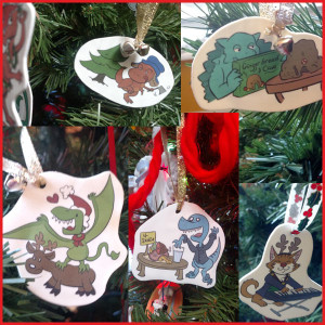 The 2015 Dinosaur (Mostly) Ornaments Tree Collage!