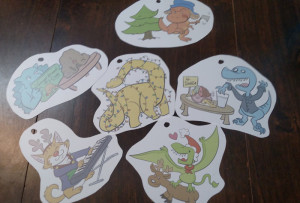 Shrinky Dink paper, cut around the images with ample whitespace