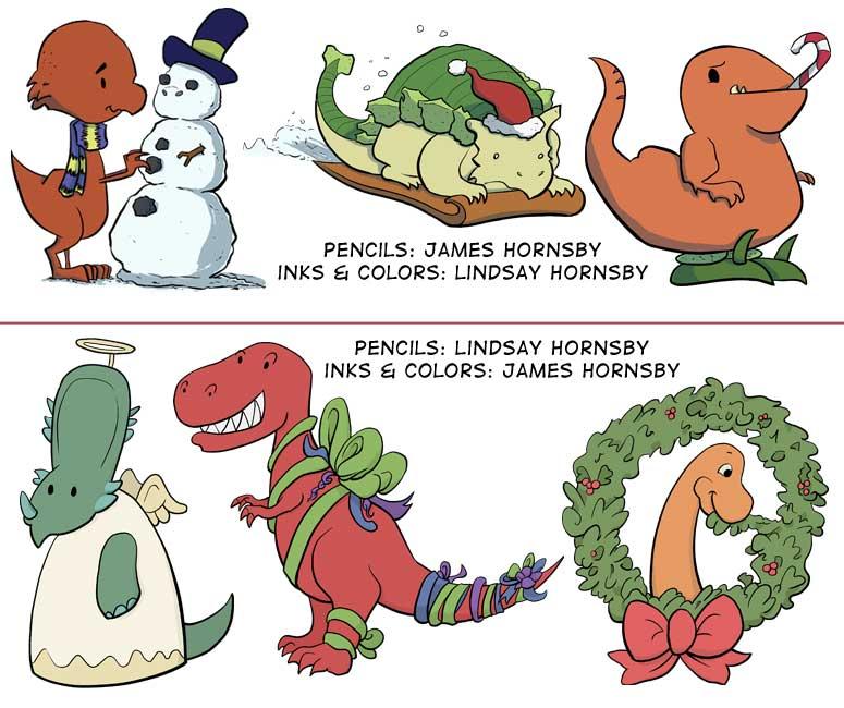 Christmas Dinosaur.2010 Dinosaur Christmas Ornaments Fizzlebit